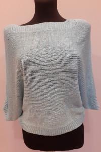 Krótki sweterek ze złota nitką...