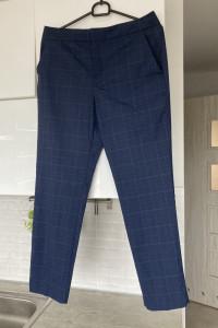 Zara granatowe cygaretki spodnie paski eleganckie...