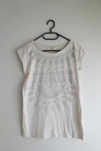 Reserved szara bluzka z dżetami ozdobami 36 S