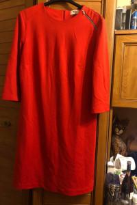 RH plus śliczna czerwona sukienka L