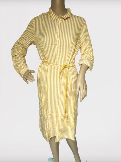 Suknie i sukienki Sukienka M 38 Esmara Paski Żółta Biała Marynarska Koszulowa