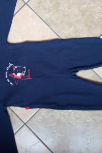Pajac piżama z Francji NOWY rozmiar 74 9 miesięcy