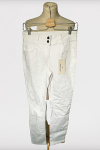 Spodnie NOWE Białe S 36 Anna Field Rurki Biel...