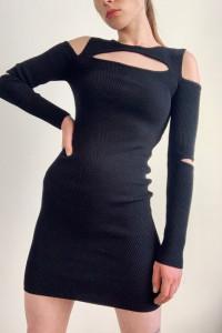 Sukienka etui czarna ZARA...