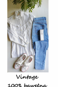 Bluzka vintage bawełna