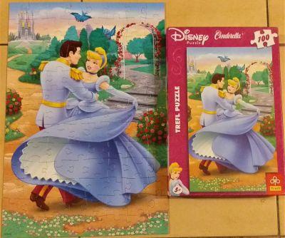 Zabawki Puzzle trefl Disney Cinderelle Princes Kopciuszek 100