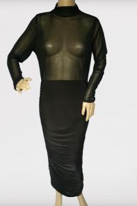 Sukienka Czarna Siateczka Golf Long NOWA Missguided 44 XXL...
