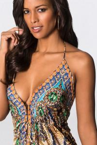 sexy maxi sukienka długa asymetryczna zdobiona cyrkonie dekold ...