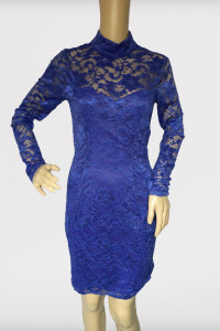 Sukienka NOWA L 40 Kobaltowa Asos Koronkowa Ołówkowa...