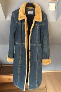 Płaszcz jeansowy S M stan bdb