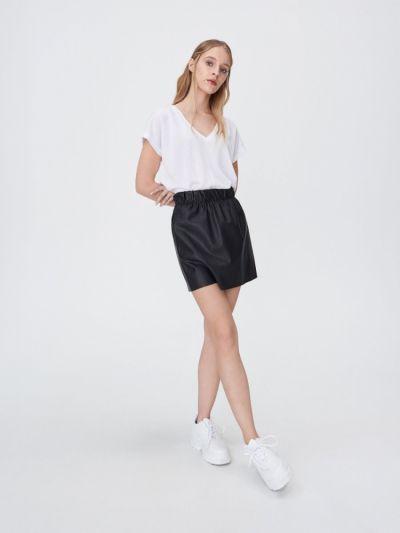 Spódnice Spódnica mini ze sztucznej skóry