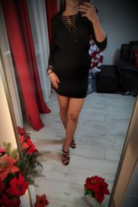 The Kooples Czarna elegancka sukienka