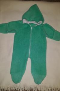 Ciepły zielony pajacyk niemowlęcy