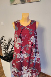 Bordowa sukienka w kwiaty Atmosphere r 44...