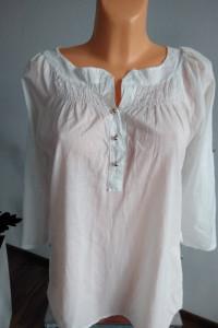 Biała bluzka z guziczkami r L