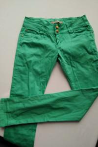 Miętowe jeansy r 42