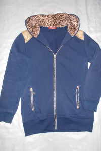 Bluza długa bluza na zamek bluza z kapturem 42 44 46