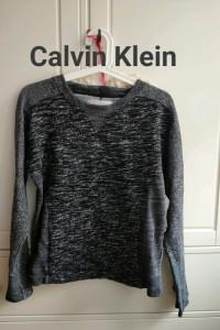 Sweter melanż bluza Calvin Kleina jeans S M czarna z kieszeniami