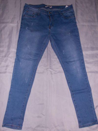 Spodnie Spodnie dżinsowe jeansy z przetarciami spodnie elastyczne 42 44 46