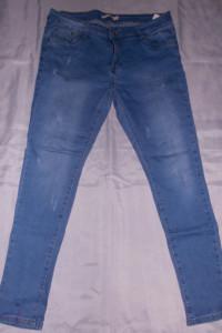 Spodnie dżinsowe jeansy z przetarciami spodnie elastyczne 42 44 46