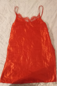 Czerwona koszula nocna z koronką rozmiar XL