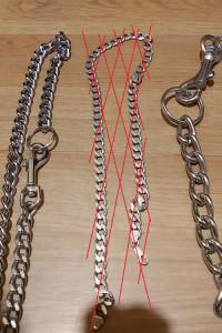 Łańcuchy różne metalowe