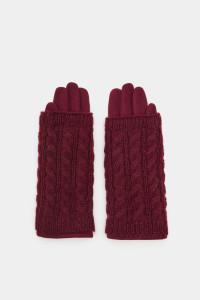 Bordowe rękawiczki