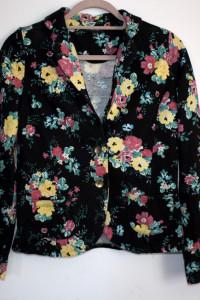 Marynarka bawełniana w kwiaty rozmiar l