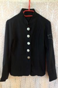 Żakiet kurtka marynarka czarna s m xs 34 36 38 używana tania oz...