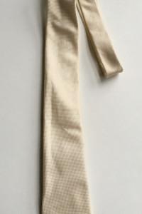 Krawat Beżowy Lacoste Beż Elegancki Pikowany...