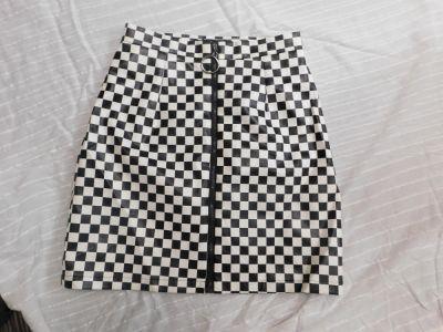 Spódnice Spódnica w szachownicę skóra eko