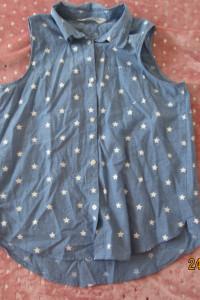 Niebieska bluzka dla nastolatki dziewczynki kupiona w h&m 152 śliczna