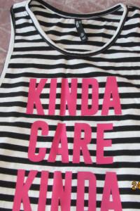 Bluzka na ramiączkach czarno biała dla dziewczynki nastolatki 152