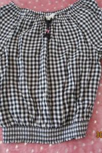 Bluzka czarna dla dziewczynki nastolatki z h&m 158 hiszpanka krótka