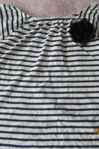 Promocja bluzki sliczne z koronką falbanami h&m biała miętowa 152