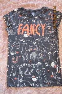 Bluzka dla dziewczynki nastolatki z Smyk 164 idealna szkoły z krtótkim