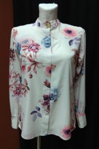 Koszula biała bluzka kwiaty wzór S 36...