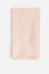 Nowy szal indyjski brudny róż jasny duży szalik chusta tkany el...
