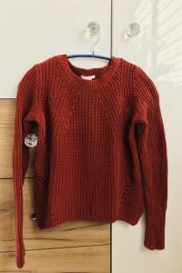 Sweterek burgundowy H&M XS