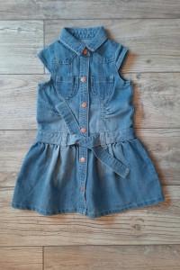 Sukienka ogrodniczka jeansowa