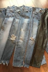 Zestaw spodni jeansy komplet xs...