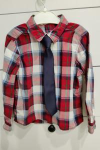 H&M komplet koszula krawat bezrękawnik rozmiar 98...