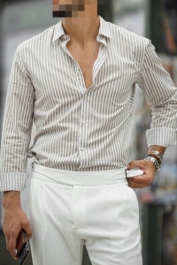Koszula w paski Zara Man Regular Fit S