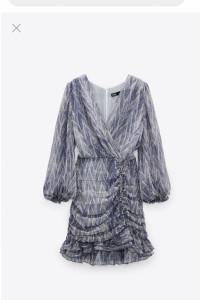 ZARA drapowana sukienka