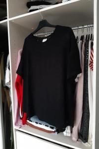 H&M czarny Szeroki Tshirt w paski...