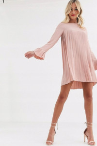 Sukienka plisowana na długi rękaw rozmiar M
