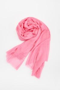 Nowy szal chusta różowa róż neon bawełna oversize lekka cienka ...