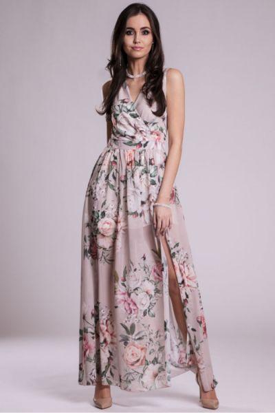 Suknie i sukienki Długa suknia 209 wzory 34 36 38 40 42 44 46