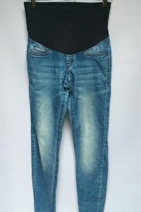 Spodnie Tregginsy H&M Mama Super Skinny M 38 Rurki Dzinsy...