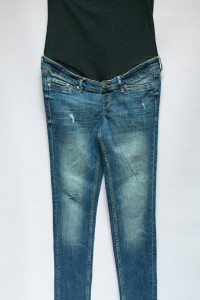 Spodnie Ciążowe H&M Mama M 38 Skinny Rurki Przetarcia...